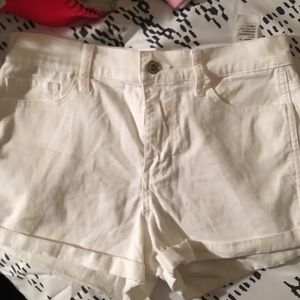 Hollister white high rise shorts